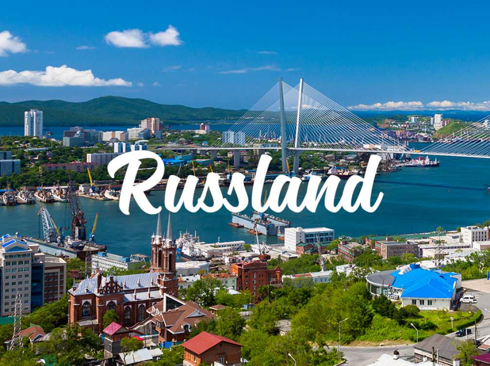 Stadtpanorama in Russland